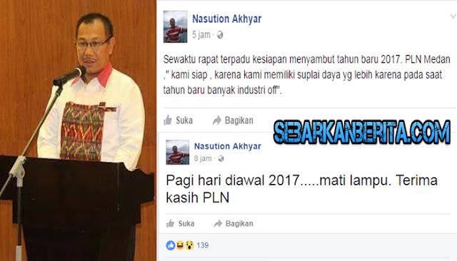 Kesal Listrik Padam, Wakil Wali Kota MEDAN Unggah Status di Media Sosial.
