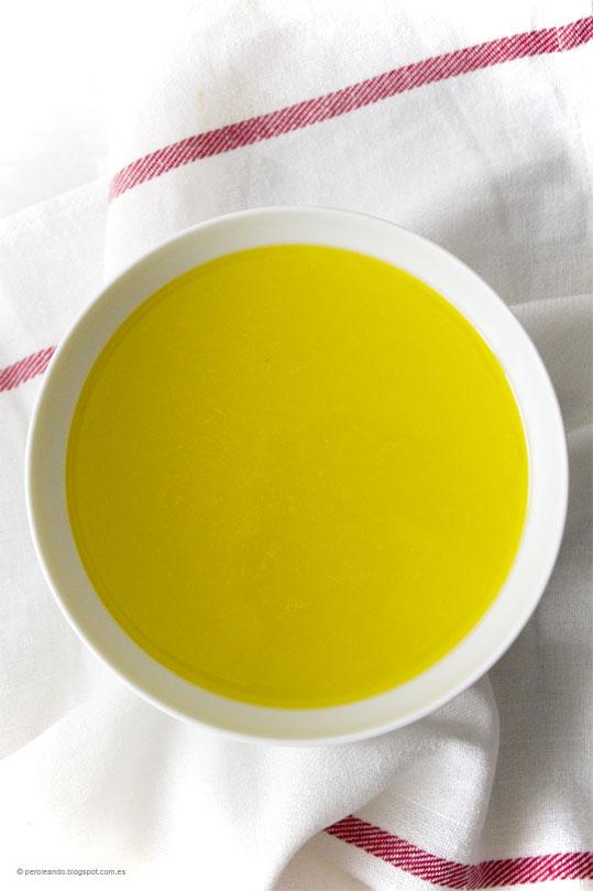 caldo de pollo y verduras (II)