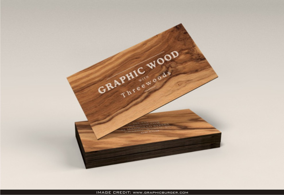 Wooden Business Cards Mockup Free Download Latest Business Card T