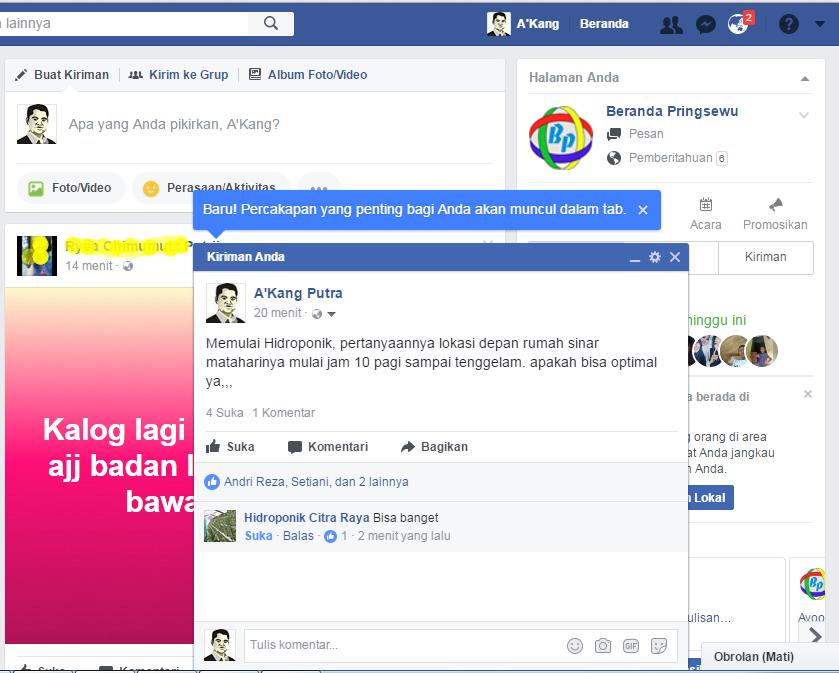 Baru Percakapan yang Penting bagi Anda di Facebook akan muncul dalam tab