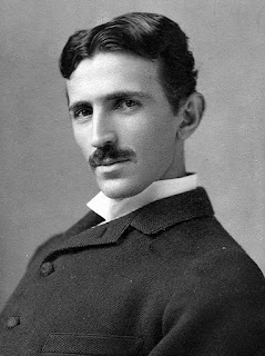 Photograph image of Nikola Tesla (1856-1943) at age 34, by Napoleon Sarony.