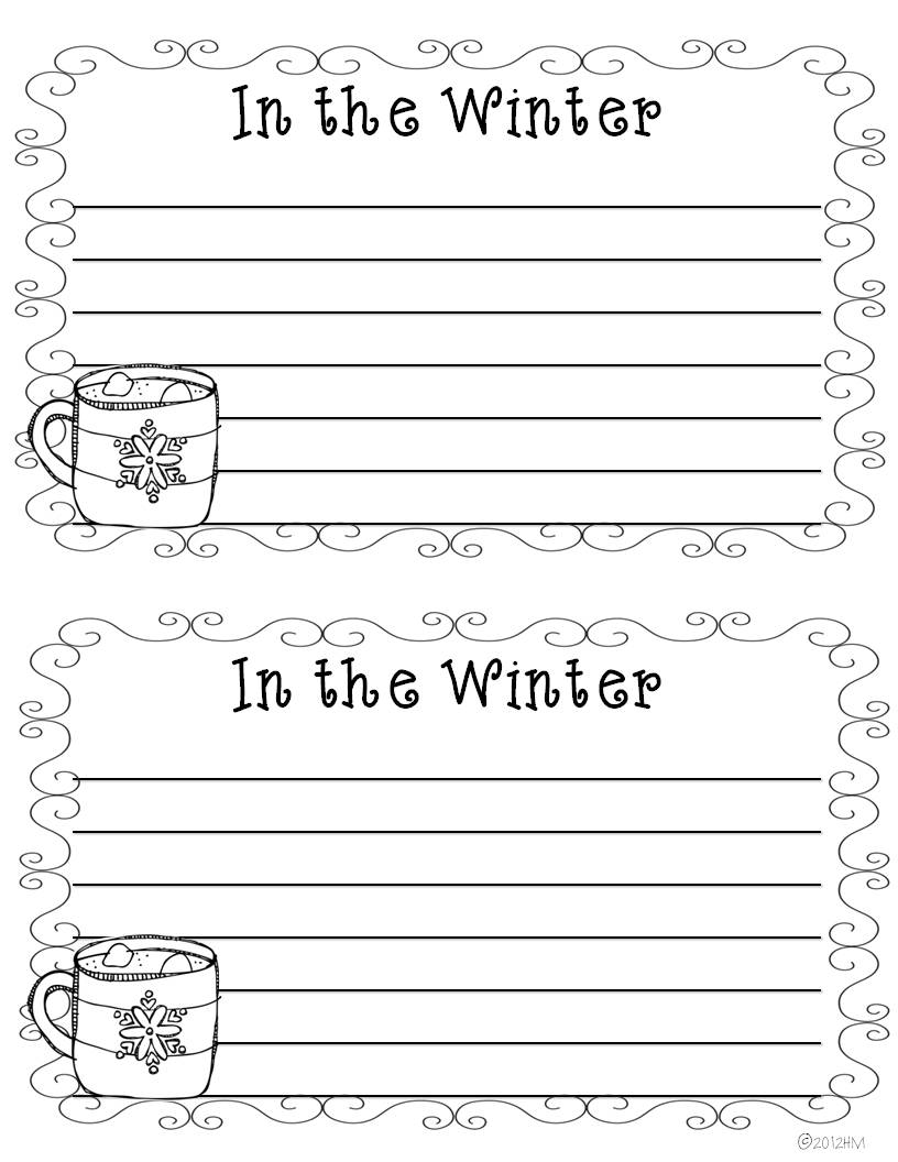 winter writing prompts for second graders winter writing prompts 16 total 11 4 christmas. Black Bedroom Furniture Sets. Home Design Ideas