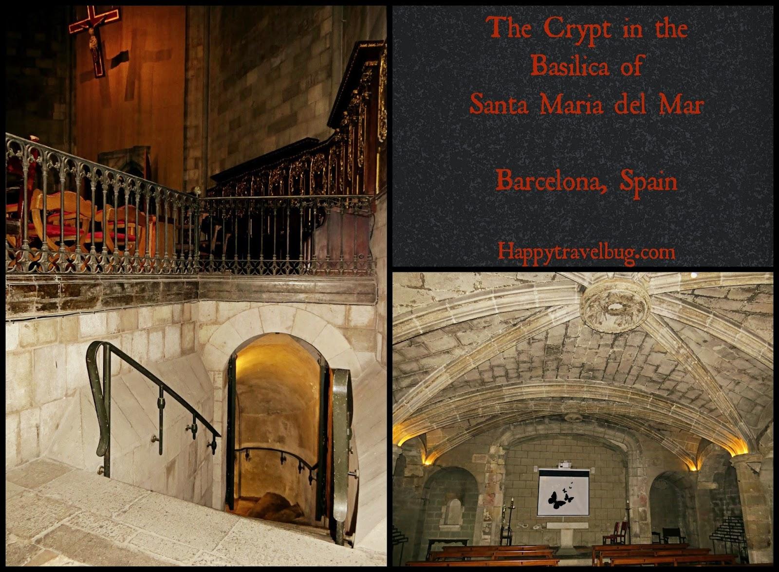The crypt in The Basilica Santa Maria del Pi