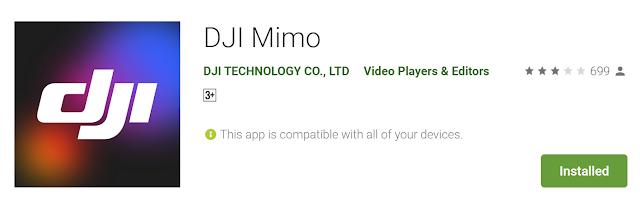 DJI Mimo Apps