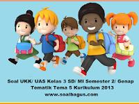 Soal UKK Kelas 3 Tema 5 Kurikulum 2013