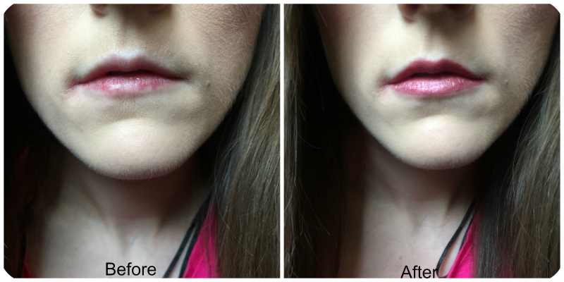 before and after urban decay liquid lipstick in trivial