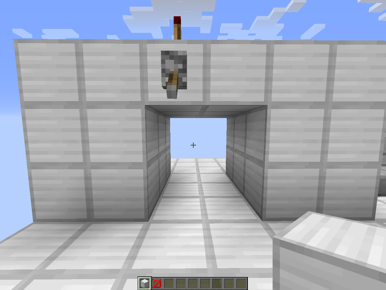 To create this 2x2 piston door first place 2 sticky pistons facing the right one on top of the other and four blocks to the right place 2 sticky ... & Redstone Contraption: 2x2 Piston Door