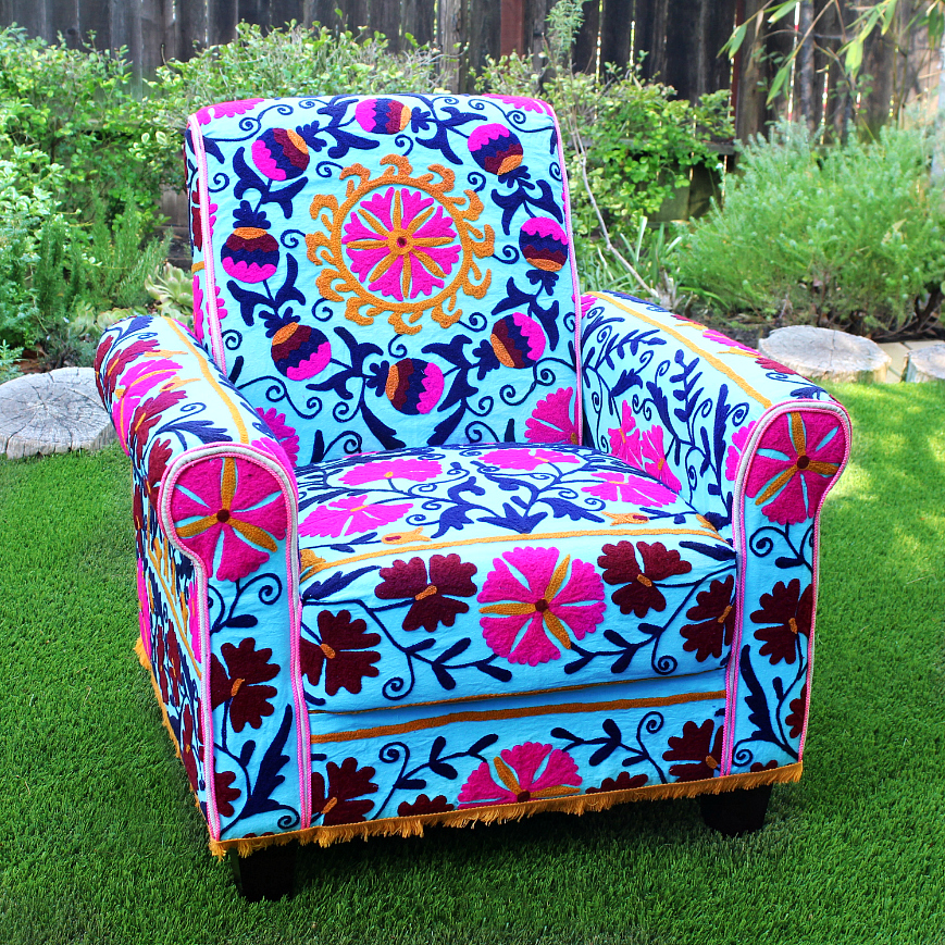 Mark Montano No Sew Upholstered Boho Chair