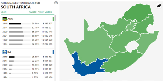Maps Mania: South Africa Election Maps