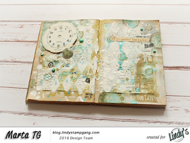 Vintage art journal spread for Lindy's