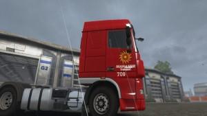DAF XF Manasser Numbre Truck 709 Skin