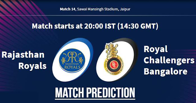 VIVO IPL 2019 Match 14 RR vs RCB Match Prediction, Probable Playing XI Who Will Win