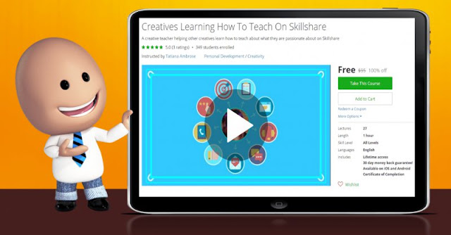 [100% Off] Creatives Learning How To Teach On Skillshare| Worth 95$