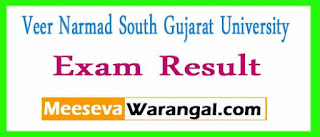 Veer Narmad South Gujarat University B.A 6th Sem (CBCS) Reg/ Ext Oct 2016 Exam Results