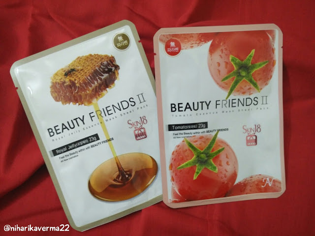 Soft and Glowing skin with Skin18 Face Mask Sheet | Beauty Friends | Royal Jelly & Tomato 1
