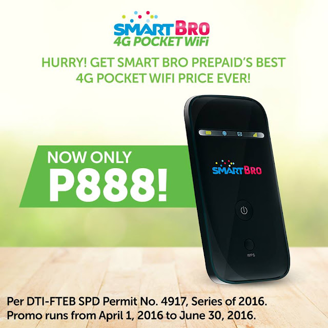 Smart Bro 4G Pocket Wifi for only Php888