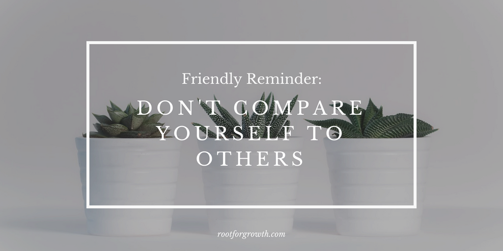 Just a reminder: don't compare yourself to others. It can lead to jealousy and low self-esteem. I provide tips that can be part of your self-care routine and overcome low self-esteem.