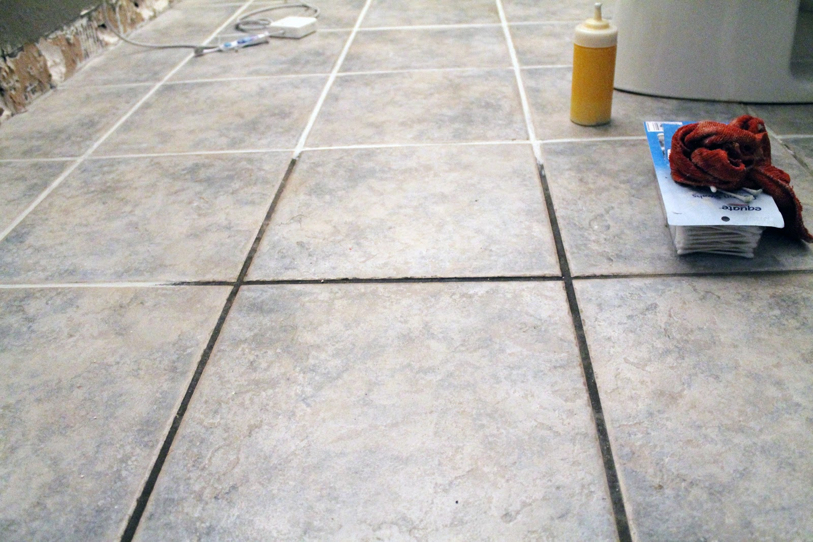 Preferred Taking Grout from Dark and Dingy to White and Bright - Chris Loves  WZ58