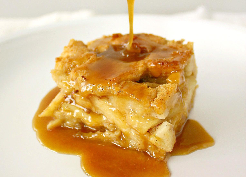 Food Wanderings Drunken Apple Bread Pudding