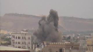 Sanaa .. Coalition raids bombed secret weapons stores of the houthis in yemen