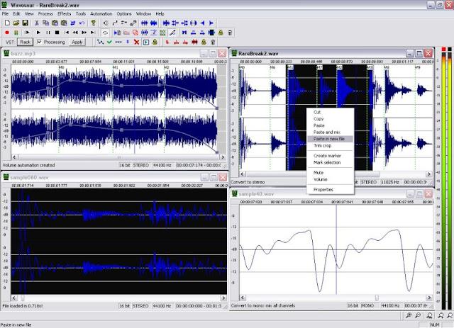 Wavosaur: Δωρεάν πρόγραμμα επεξεργασίας μουσικής