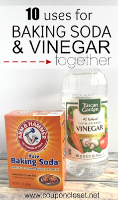 10 different uses for baking soda and vinegar together