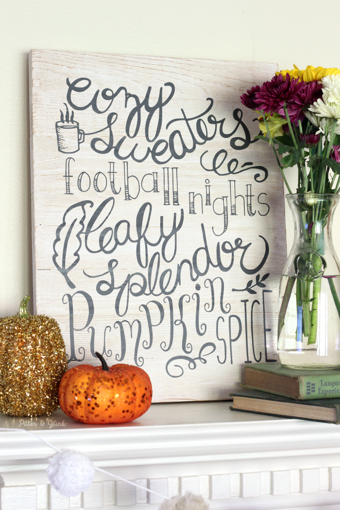 Hand-Lettered Fall Wall Art DIY