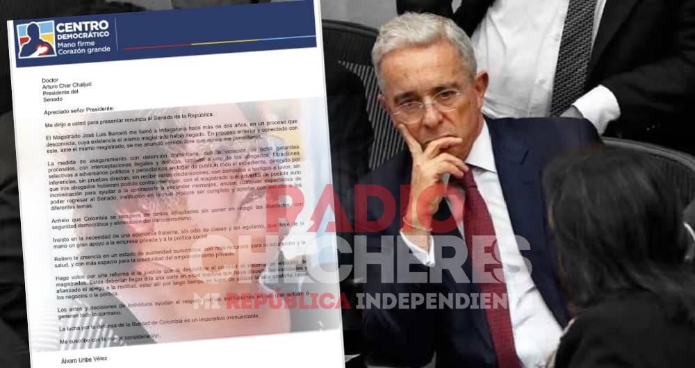 "#Extra. Álvaro Uribe ""renuncia al Senado"""