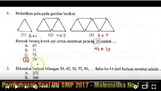 Download Soal Dan Pembahasan Un Matematika Smp Mts Tahun Pelajaran 2016 2017 7pelangi Com