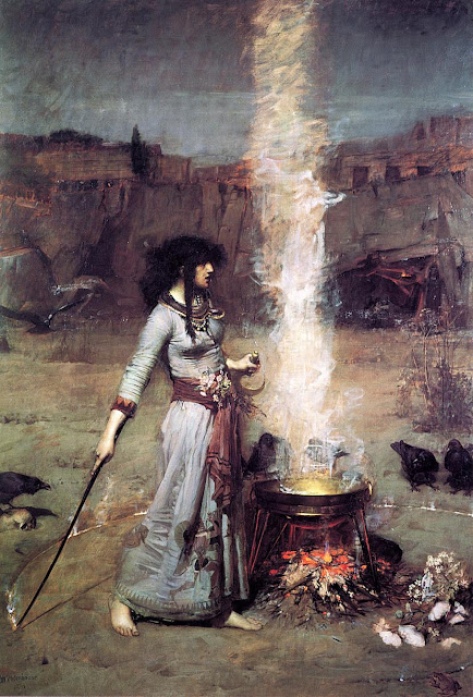 The Magic Circle (1886)  - John William Waterhouse