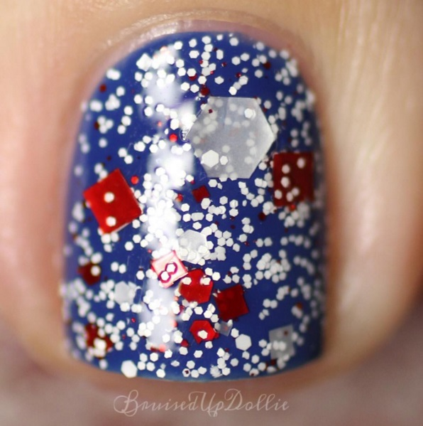 "Glitter Lambs ""Don't Touch My Candy Cane Milkshake"" Nail Polish  worn by @bruisedupdollie"