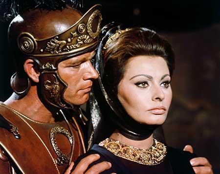 """La caída del imperio romano"" con Sophia Loren."