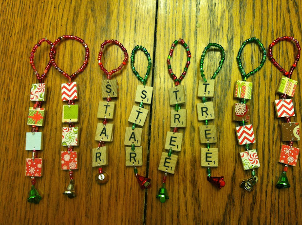 Army Wife Quilter Scrabble Christmas Ornaments