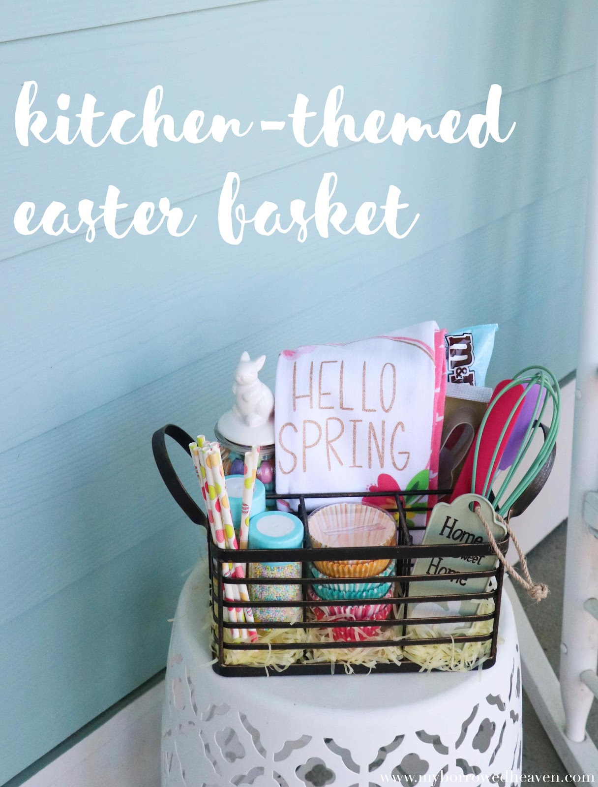 borrowed heaven: Kitchen-Themed Easter Basket