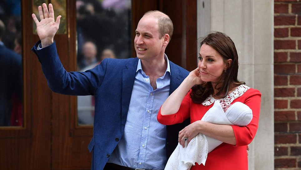 The Duke and Duchess of Cambridge debut third baby