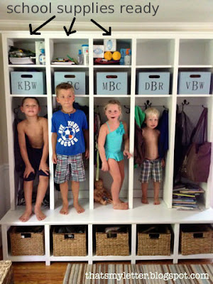 diy mudroom storage unit with pull out bins
