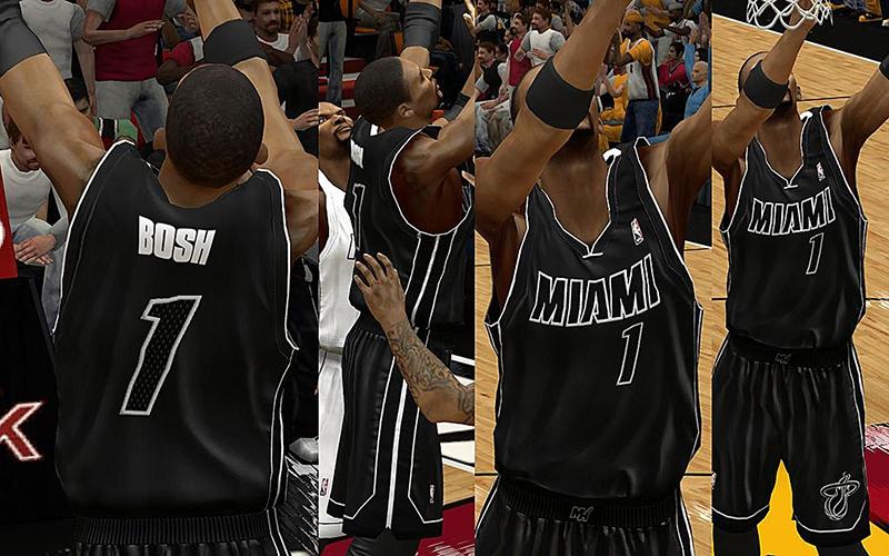 low priced 22d41 199f1 NBA 2K13 Miami Heat Jersey Pack v2 - NBA2K.ORG