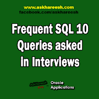 10 Frequent SQL Queries asked in Interviews, www.askhareesh.com
