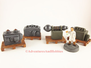 New shipment of laboratory equipment scenery for 25-28mm wargaming.