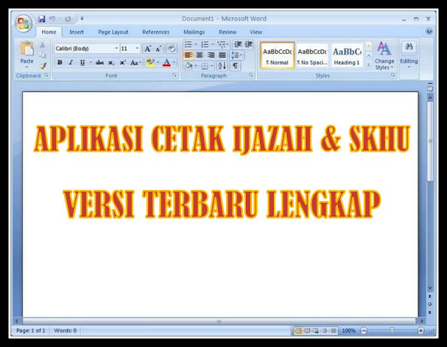 Aplikasi Cetak Ijazah dan SKHU Versi Terbaru Lengkap