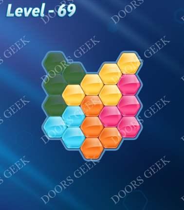 Block! Hexa Puzzle [Rainbow A] Level 69 Solution, Cheats, Walkthrough for android, iphone, ipad, ipod