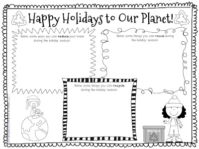 staying green during the holidays a freebie 3rd grade thoughts. Black Bedroom Furniture Sets. Home Design Ideas