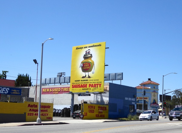 Sausage Party use condiments billboard