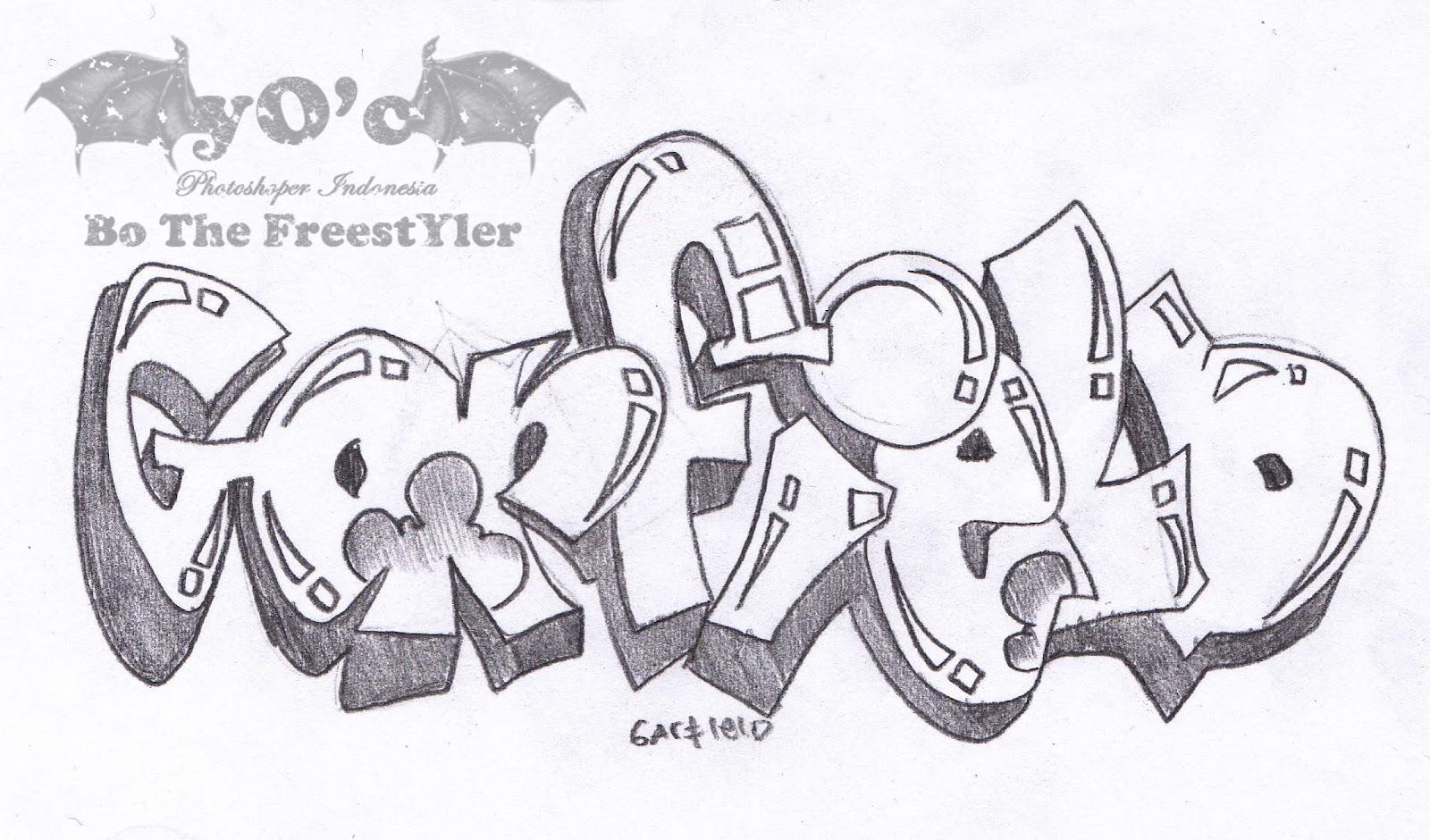 Galeri Sketsa Gambar Grafiti 3d