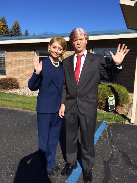Donald Trump and Hillary Clinton Couple Halloween Costume