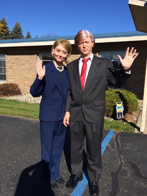 Donald Trump and Hillary Clinton Couple Halloween Costume