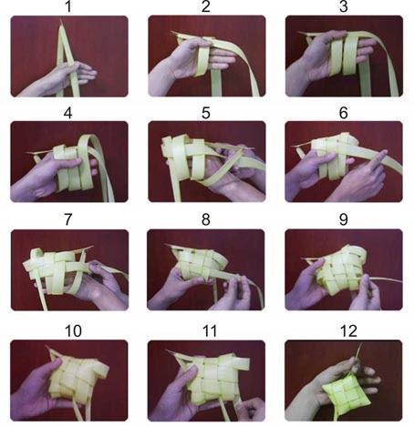 Cara Membuat Ketupat Lebaran Dan Menganyam Ketupat