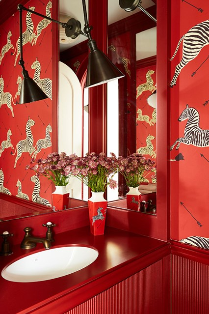 Chinoiserie chic and bold in the bathroom- design addict mom