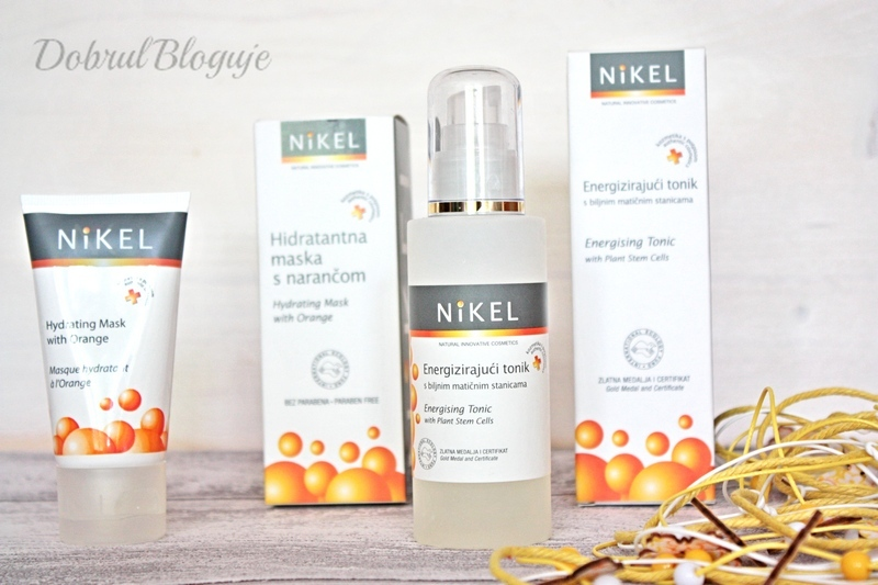 NIKEL- Energising Tonic i Hydrating Mask with Orange. Doskonały duet na upalne dni.