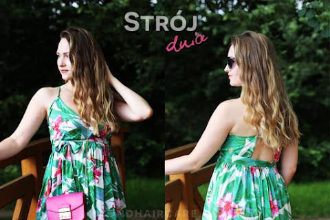 Zielona sukienka maxi w tropikalny wzór - czytaj dalej »